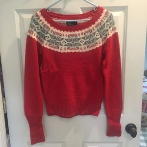 American Eagle red sweater